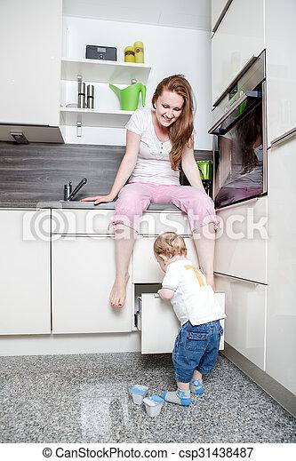 in the kitchen - csp31438487