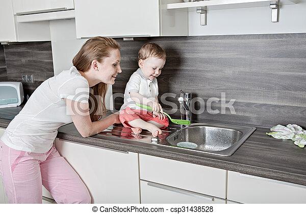 in the kitchen - csp31438528