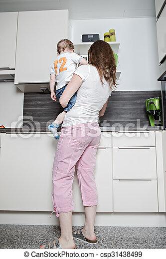 in the kitchen - csp31438499