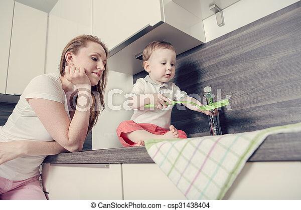 in the kitchen - csp31438404
