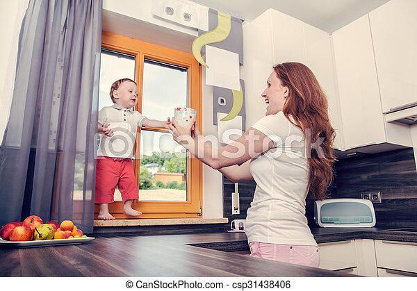 in the kitchen - csp31438406