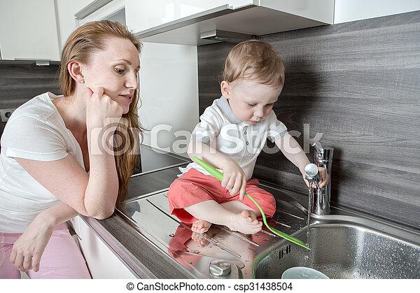 in the kitchen - csp31438504