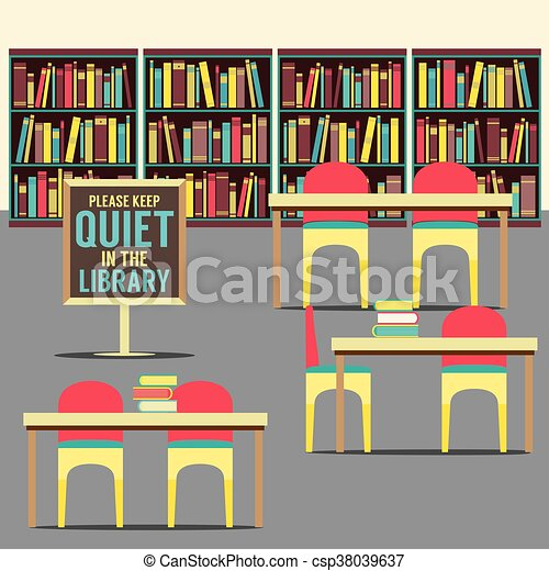 In The Library. - csp38039637