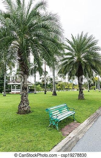 in the park. - csp19278830
