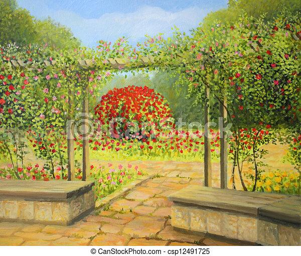 In The Rose Garden   Csp12491725