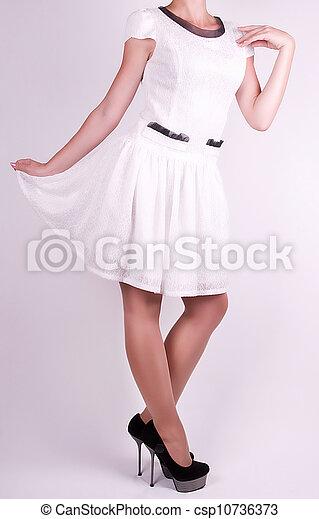 in white dress - csp10736373