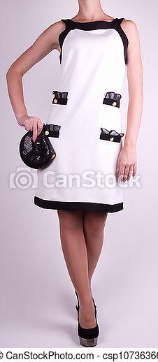in white dress - csp10736366