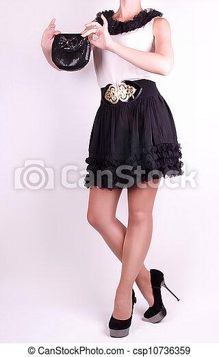 in white dress - csp10736359