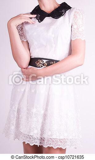 in white dress - csp10721635