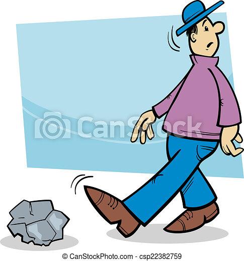 inattentive man cartoon illustration - csp22382759