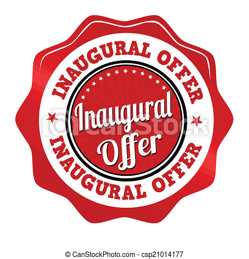 Inaugural offer sticker, icon,stamp or label - csp21014177
