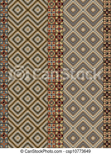 inca pattern. Vector illustration - csp10773649