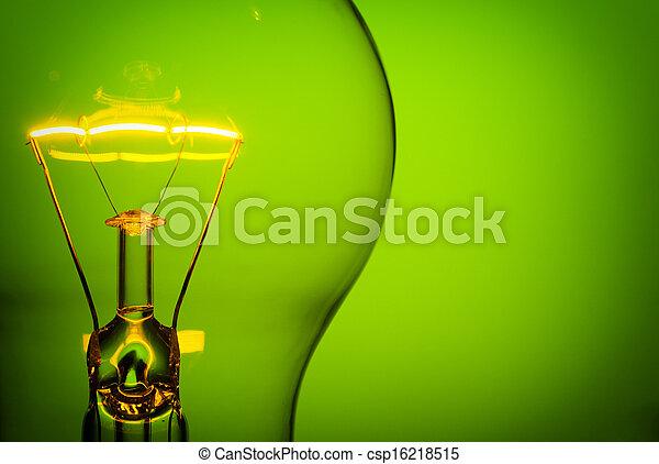 incandescent, ampoule, lumière - csp16218515