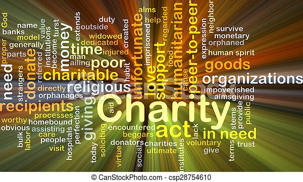 incandescent, concept, fond, charité - csp28754610
