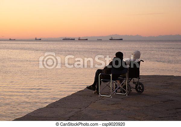Persona incapacitada en silla de ruedas - csp9020920
