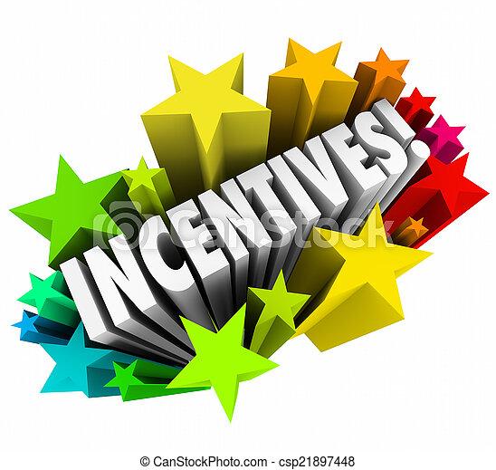 Incentives 3d Word Stars Fireworks Advertising Promotion Rewards - csp21897448