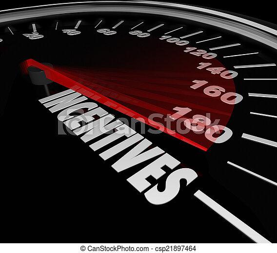 Incentives Car Speedometer Auto Dealership Buy Vehicle Save Mone - csp21897464