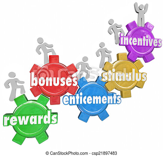 Incentives Rewards Bonuses Customers Workers Climbing Heigher - csp21897483