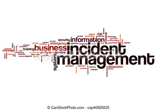 Incident management word cloud - csp40929225
