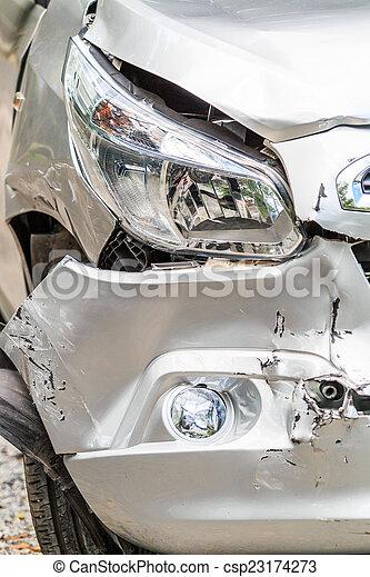 incidente automobile, traffico - csp23174273