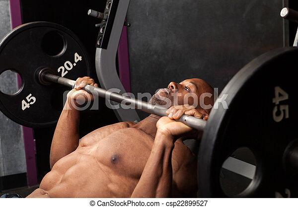 Incline Bench Pressing - csp22899527