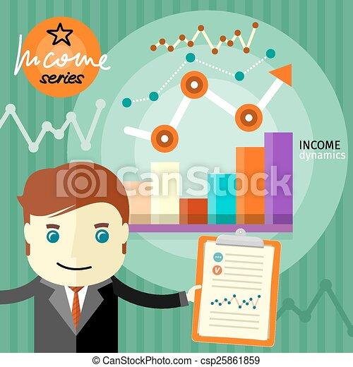 Income dynamics concept - csp25861859