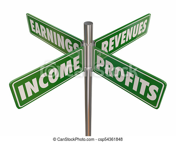 income profits earnings revenues street road signs 3d drawing rh canstockphoto com street sign clipart blank street sign clipart black and white