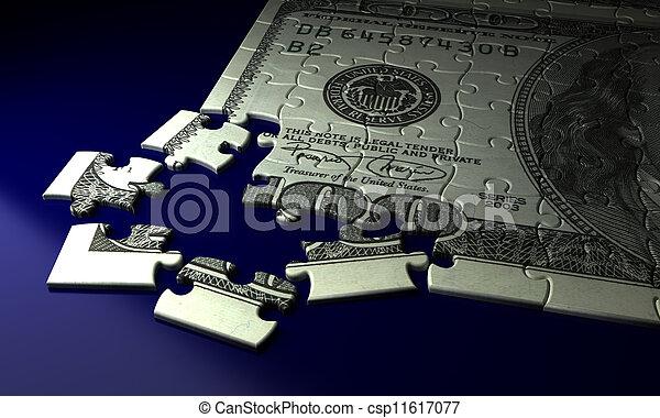 Incomplete Dollar Puzzle - csp11617077