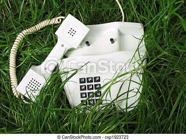 incomum, lugar, telefone - csp1923723
