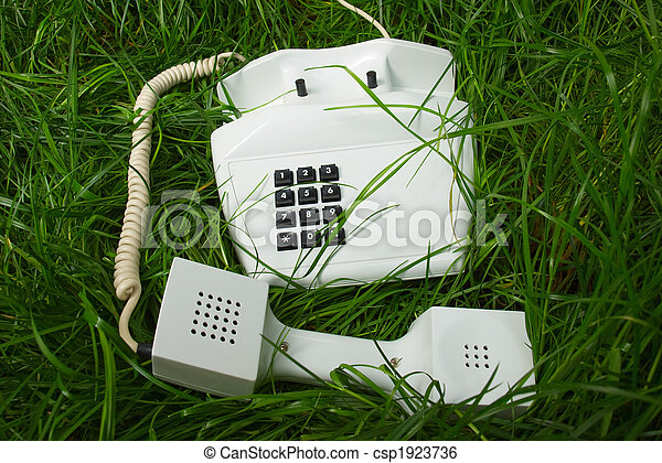 incomum, lugar, telefone - csp1923736