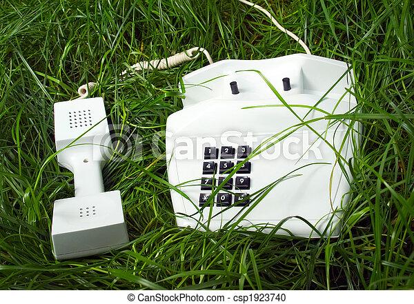 incomum, lugar, telefone - csp1923740