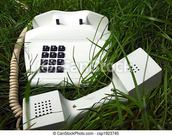 incomum, lugar, telefone - csp1923745