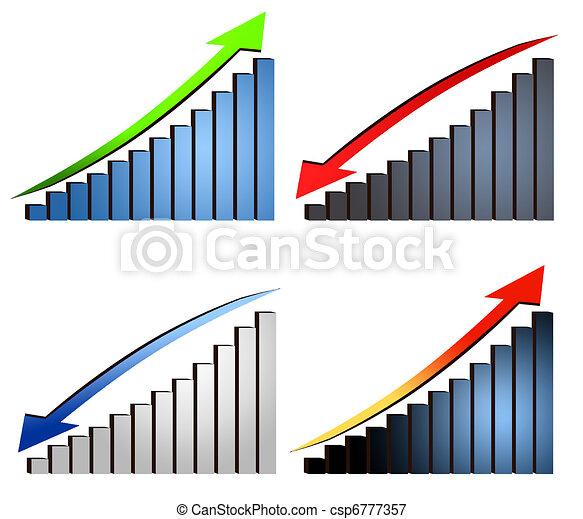 increase decrease graphs - csp6777357