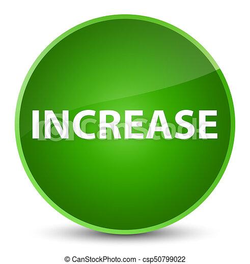 Increase elegant green round button - csp50799022