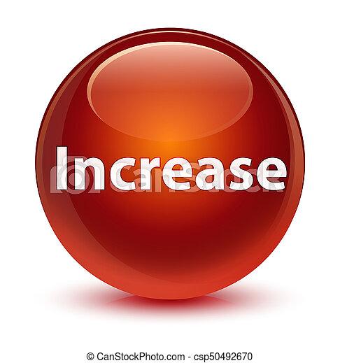Increase glassy brown round button - csp50492670