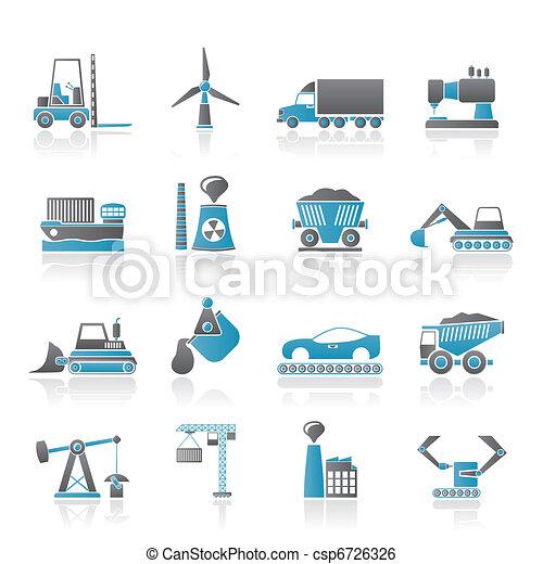 indústria, ícones negócio - csp6726326