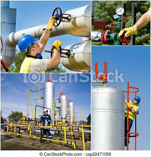 indústria, óleo, gás - csp22471056