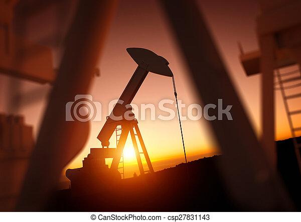 indústria, óleo, poder - csp27831143