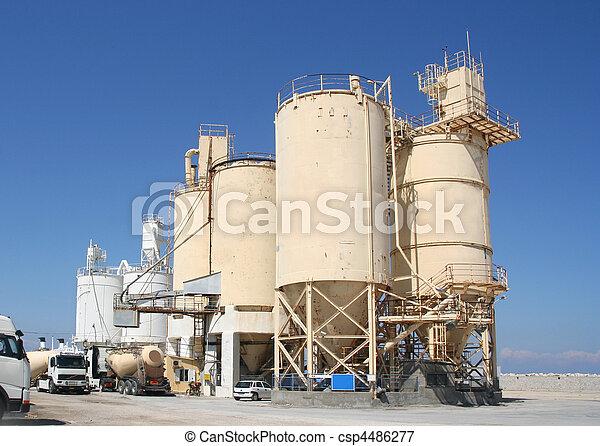 indústria, cimento - csp4486277
