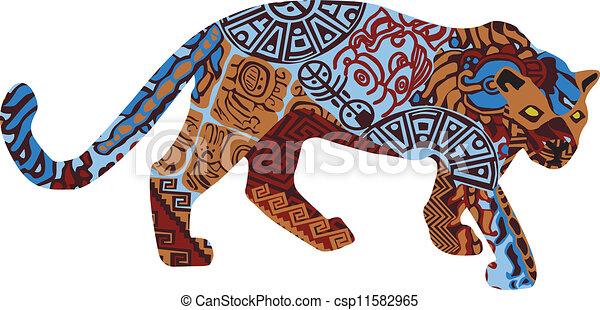 ind, modèle, jaguar, ethnique - csp11582965