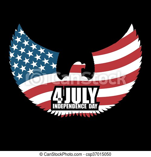 Independence Day America Symbol Of Ountrys Eagle With Wings And Usa