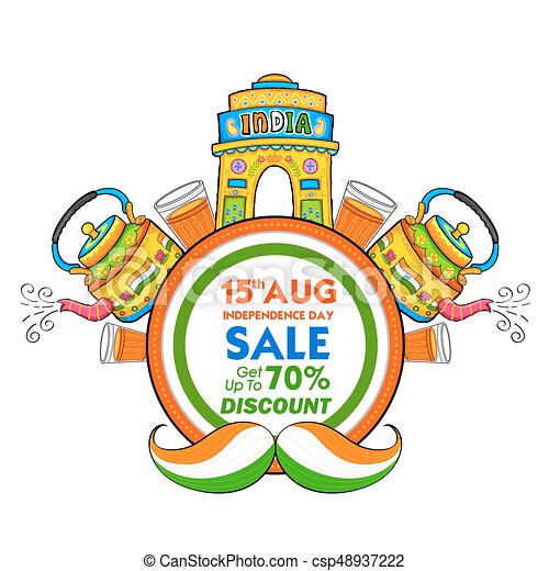 illustration of independence day of india sale banner with vector rh canstockphoto com happy independence day india clipart