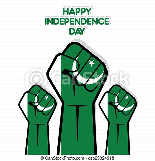 independence day of pakistan flag of pakistan hand design vector rh canstockphoto com