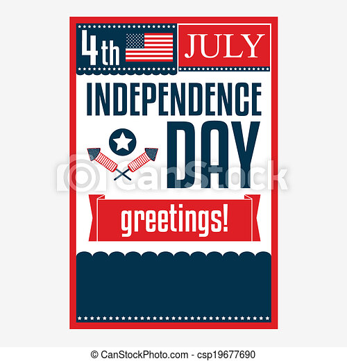 Independence day poster 4 july vector illustration eps vectors 4 july vector illustration m4hsunfo