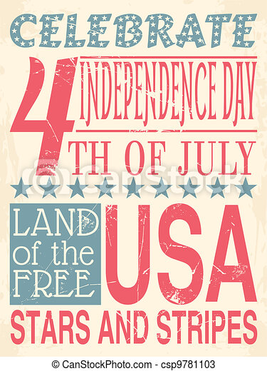 Independence Day Poster - csp9781103