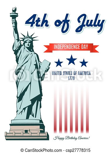 Independence Day Statue of Liberty - csp27778315