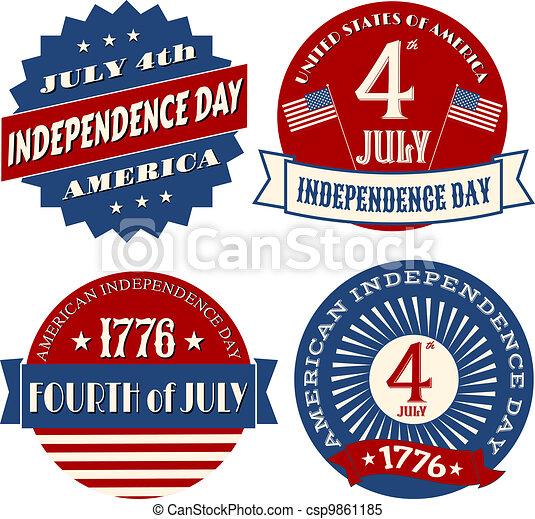 Independence Day Stickers - csp9861185