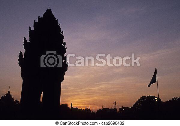 Independence Monument- Phnom Penh, Cambodia - csp2690432