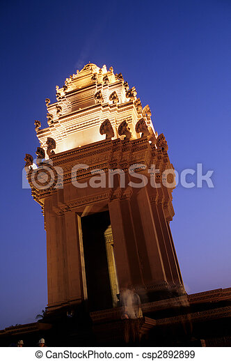 Independence Monument- Phnom Penh, Cambodia - csp2892899
