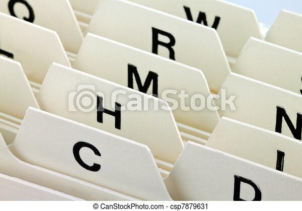 index cards register - csp7879631